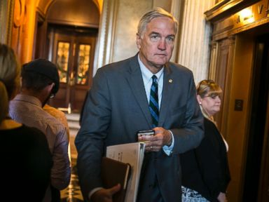 PHOTO: Sen. Luther Strange after the final vote before August recess on Capitol Hill in Washington, Aug. 3, 2017.