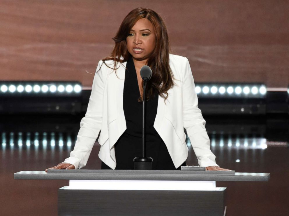 PHOTO: Lynne Patton, vice president of the Eric Trump Foundation, speaks during the Republican National Convention in Cleveland, July 20, 2016.