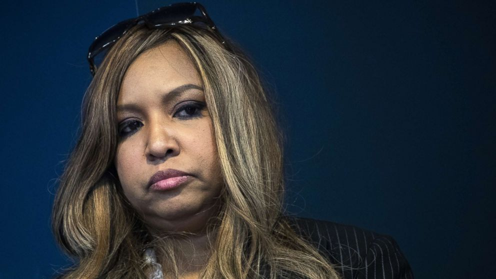 Lynne Patton, event planner and Head of Region II for HUD, looks on during a press conference at the Jacob Javits Federal Building, Jan. 31, 2019, in New York City.
