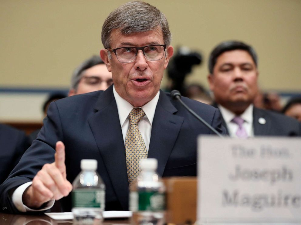 PHOTO: Acting Director of National Intelligence Joseph Maguire testifies before the House Intelligence Committee on Capitol Hill in Washington, D.C., Sept. 26, 2019.