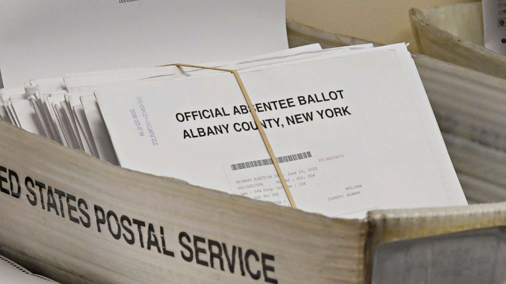 As Ballots Pile Up In The Mail A Potential Nightmare Looms On Election Night Abc News