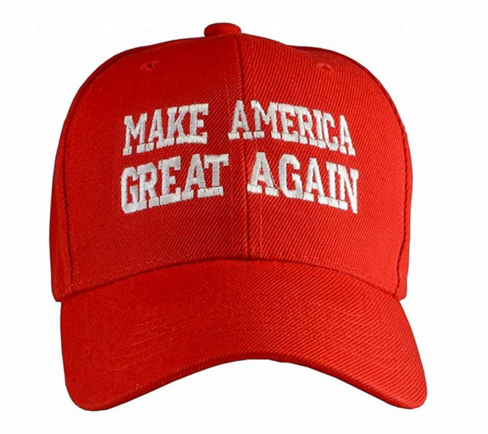 """Make America Great Again"" hat produced by Incrediblegifts who say the price could double with new US tariffs."