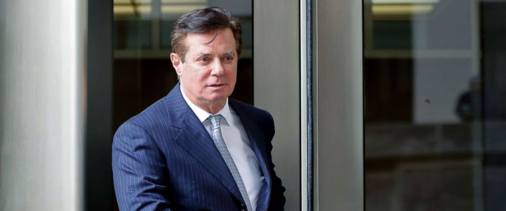 PHOTO: Paul Manafort, President Donald Trumps former campaign chairman, leaves the federal courthouse in Washington D.C., Feb. 14, 2018.