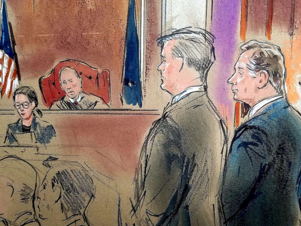 PHOTO: President Donald Trumps former campaign chairman Paul Manafort stands before Judge T.S. Ellis as he was found guilty of eight of the 18 charges he faced in a case of bank and tax fraud at U.S. District Courthouse in Alexandria, Va., Aug. 21, 2018.