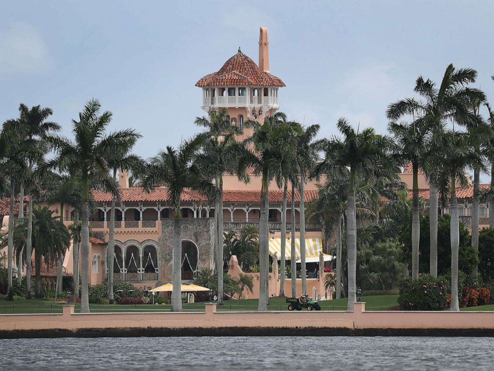 PHOTO: PPresident Donald Trumps Mar-a-Lago resort is seen on April 3, 2019 in West Palm Beach, Fla.