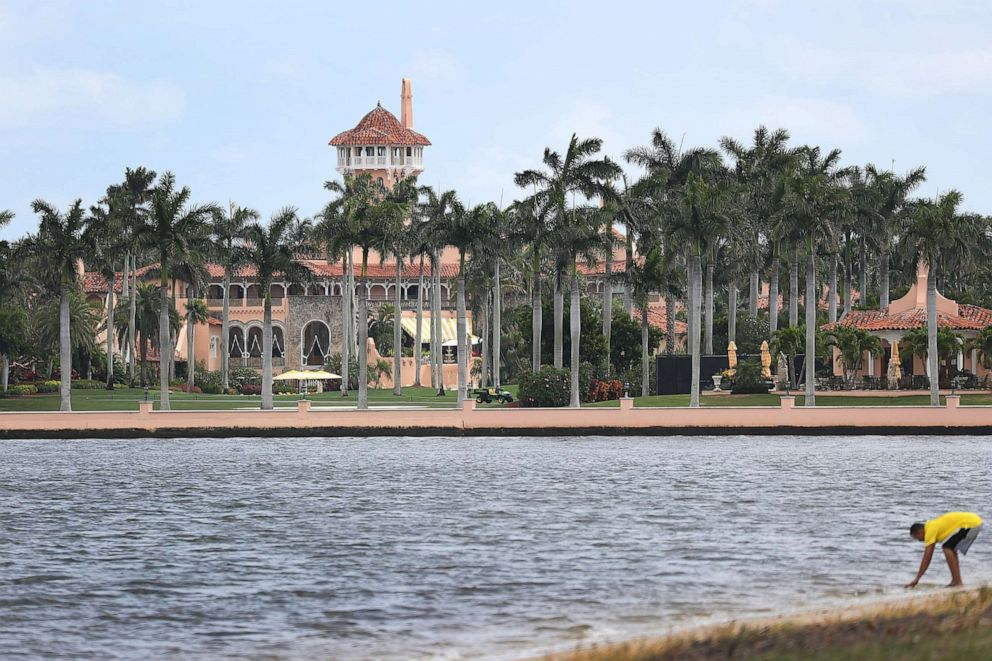 PHOTO: President Donald Trumps Mar-a-Lago resort is seen on April 03, 2019 in West Palm Beach, Fla.