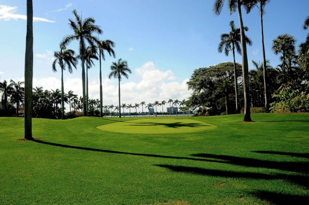 PHOTO: View of a golf course on the west lawn of the Mar-a-Lago estate, Palm Beach, Fla., is captured on Feb. 13, 2017.