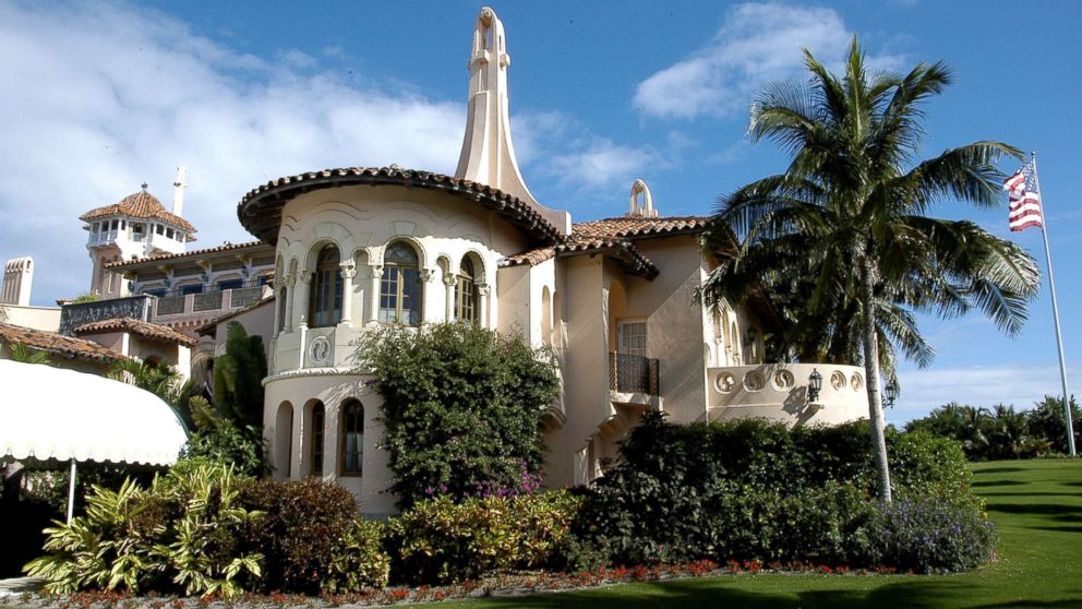Exterior view of the south side of the Mar-a-Lago estate, Palm Beach, Fla., Jan. 9, 2008.