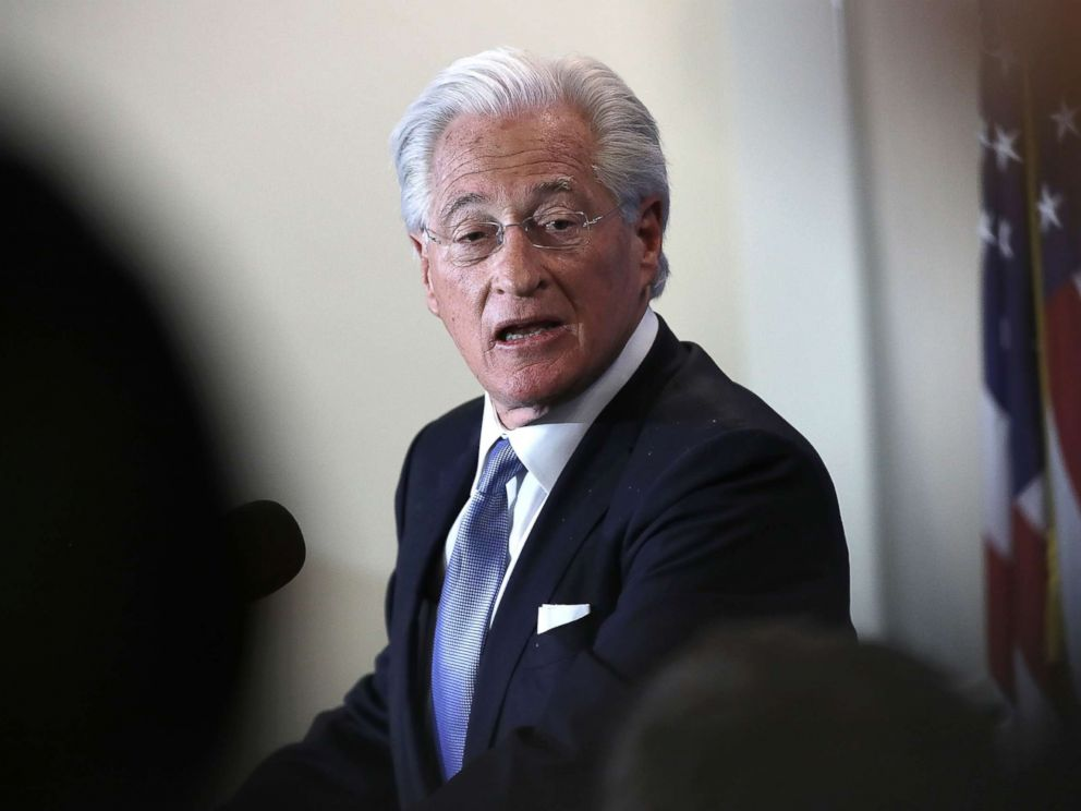 PHOTO: Marc Kasowitz, attorney for President Donald Trump, delivers remarks at the National Press Club, June 8, 2017 in Washington D.C..