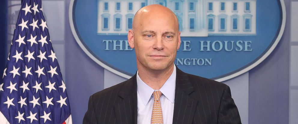 PHOTO: White House legislative director Marc Short briefs the media on President Donald Trumps meeting with Senate Republicans earlier in the day, at the James Brady Press Briefing Room, July 19, 2017 in Washington, D.C.