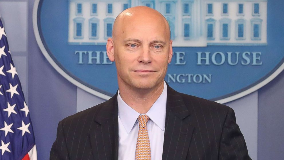 White House legislative director Marc Short briefs the media on President Donald Trump's meeting with Senate Republicans earlier in the day, at the James Brady Press Briefing Room, July 19, 2017 in Washington, D.C.