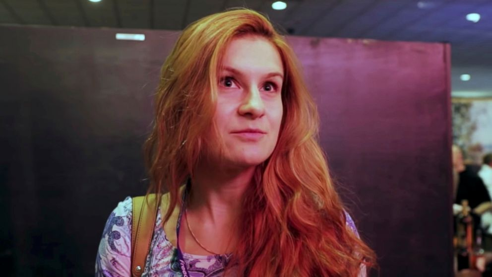 Maria Butina is pictured at the 2015 FreedomFest conference in Las Vegas, Nevada, July 11, 2015.