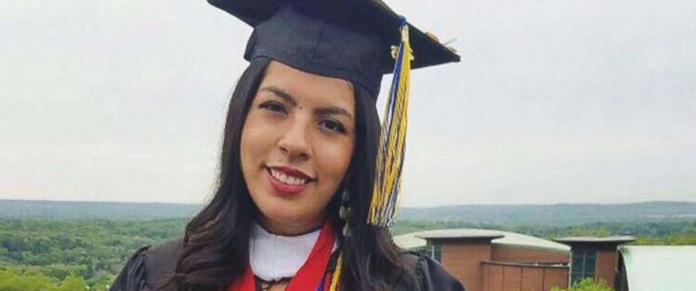 PHOTO: Maria Praeli at her college graduation ceremony at Quinnipiac University in Hamden, Conn.