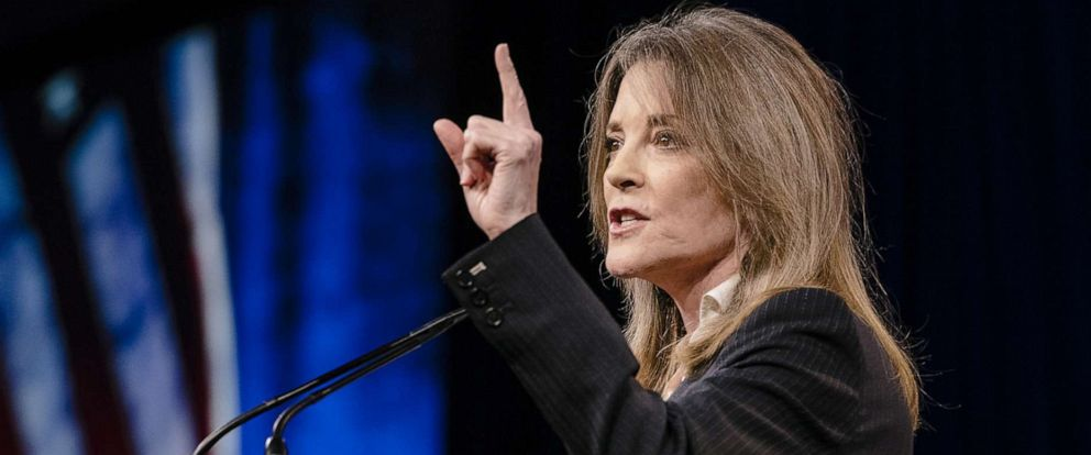 PHOTO: Marianne Williamson speaks during the Democratic National Committee Summer Meeting in San Francisco, Aug. 23, 2019.