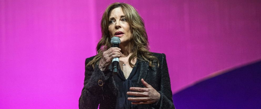 PHOTO: Marianne Williamson seen on day three of Summit LA17 in Downtown Los Angeless Historic Broadway Theater District, Nov. 5, 2017, in Los Angeles.