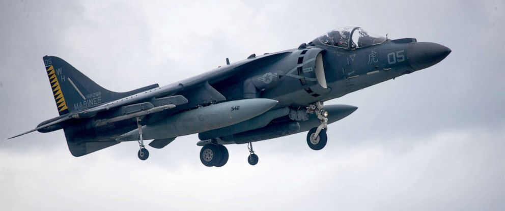 PHOTO: A U.S. Marine Corps AV-8B Harrier assigned to Marine Attack Squadron 542 hovers in place for a demonstration during Fjord Fury in Bodo, Norway, June 8, 2018.