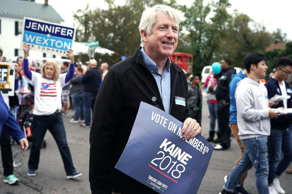 PHOTO: Virginia State Attorney General Mark Herring participates in the annual Haymarket Day parade in Haymarket, Va., Oct. 20, 2018.
