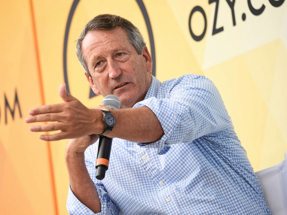 PHOTO: In this July 21, 2018, file photo, Republican politician Mark Sanford speaks at OZY Fest in Central Park in New York.