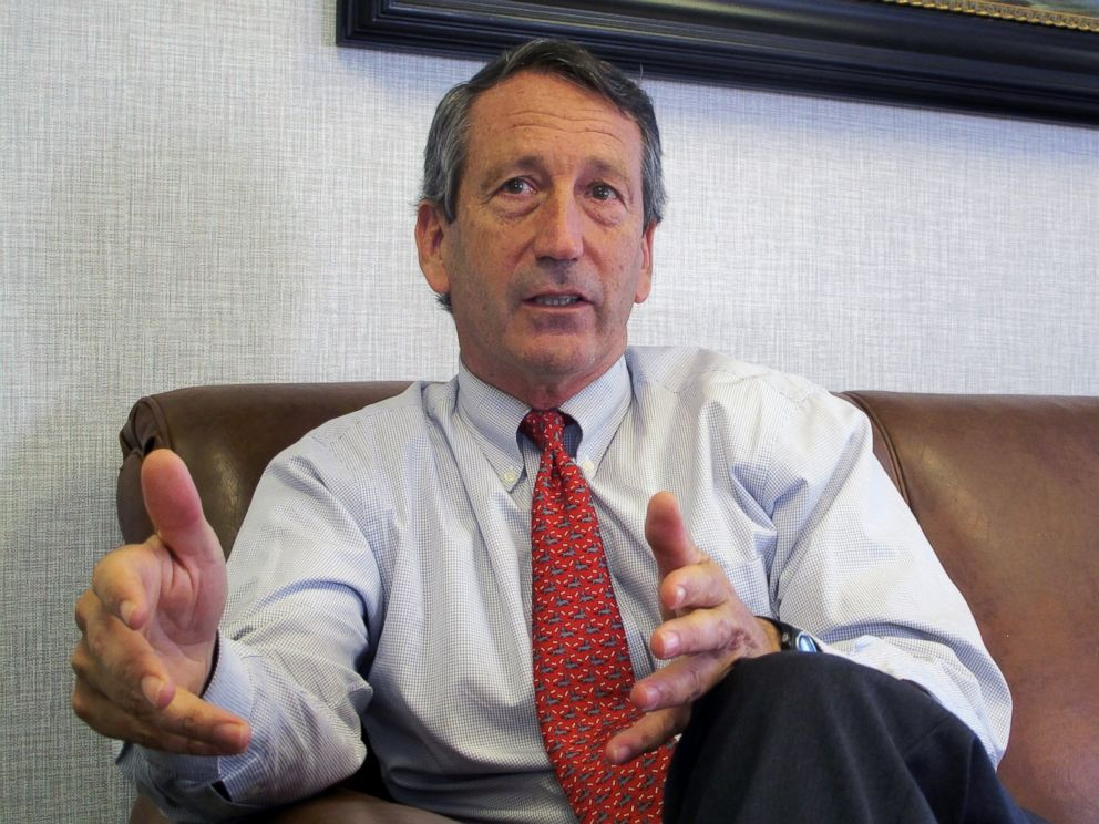 In this Dec. 18, 2013, file photo, U.S. Rep. Mark Sanford, R-S.C., discusses his first months back in Congress during an interview in Mount Pleasant, S.C.