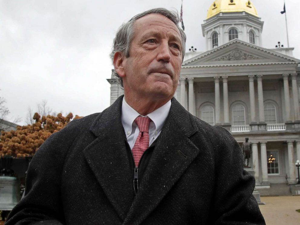 PHOTO: Republican presidential candidate former South Carolina Gov. Mark Sanford speaks during a news conference in front of the Statehouse, in Concord, N.H., Nov. 12, 2019 where he announced he is ending his longshot 2020 presidential bid.