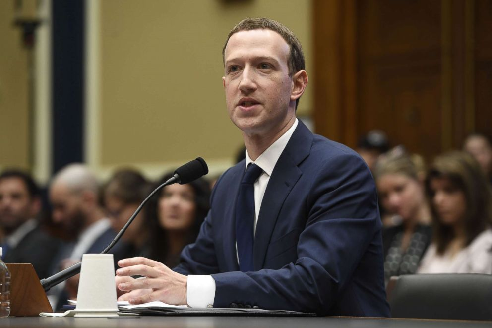 Facebook CEO and founder Mark Zuckerberg testifies during a U.S. House Committee on Energy and Commerce hearing about Facebook on Capitol Hill in Washington, D.C., April 11, 2018.