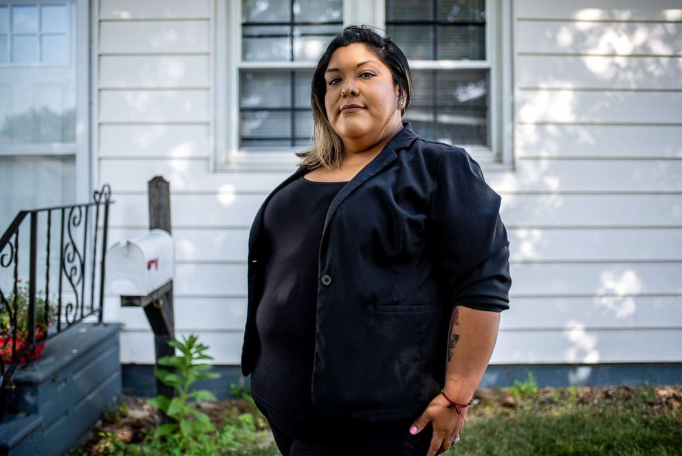 PHOTO: Maria Gonzalez poses for a photo at her home in Marshalltown Iowa, Aug. 7, 2019.
