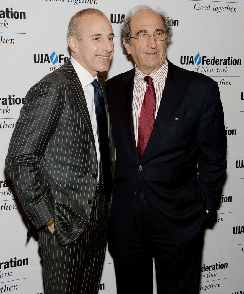 PHOTO:Matt Lauer and Andy Lack attend UJA-Federation Of New York Broadcast, Cable And Film Award Celebration at The Edison Ballroom in this April 9, 2013 file photo in New York City.