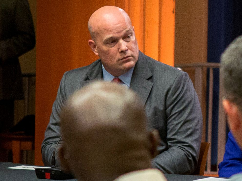 PHOTO: Chief of Staff to the Attorney General Matthew Whitaker attends a roundtable discussion with foreign liaison officers at the Justice Department in Washington, Aug. 29, 2018.