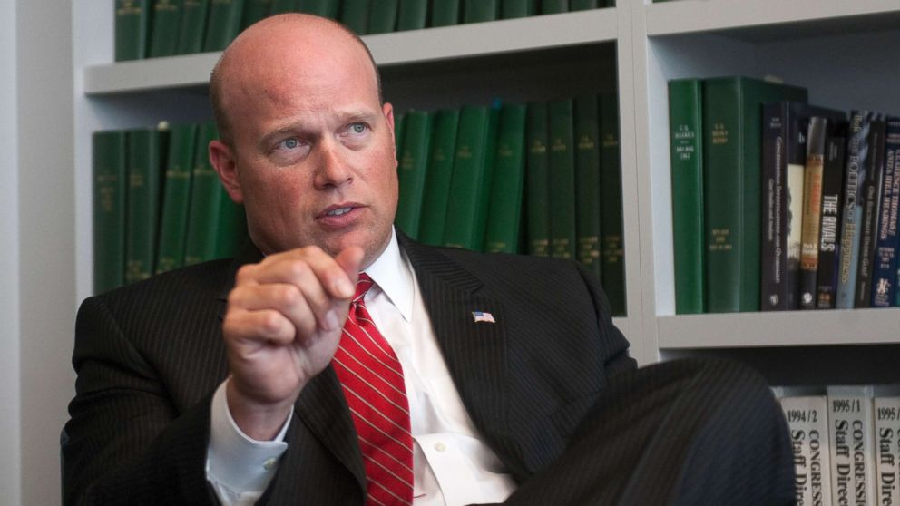 Matt Whitaker is interviewed at Roll Call office in Washington, D.C.