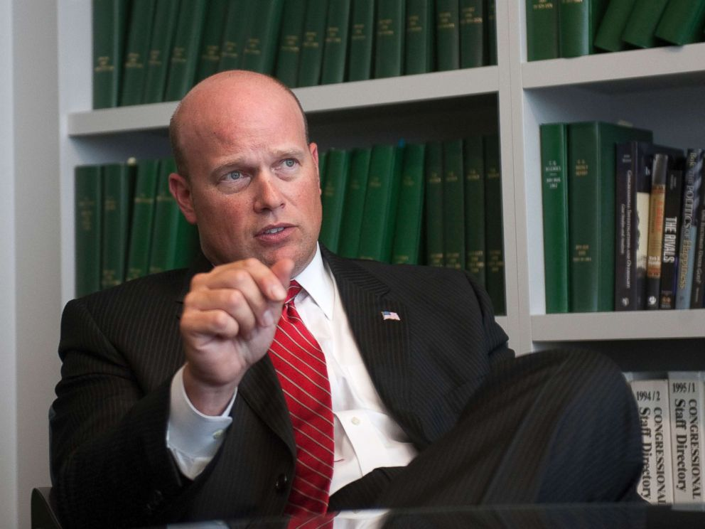 PHOTO: Matt Whitaker is interviewed at Roll Call office in Washington, D.C.