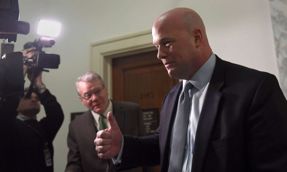 PHOTO: Former Acting Attorney General Matthew Whitaker arrives for a meeting with the House Judiciary Committee on Capitol Hill in Washington, D.C., March 13, 2019.