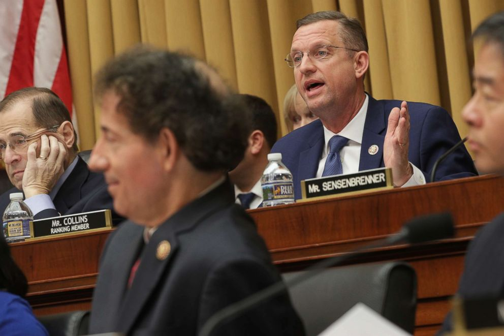 PHOTO: House Judiciary Committee ranking member Rep. Doug Collins delivers opening remarks before hearing testimony from acting U.S. Attorney General Matthew Whitaker on Capitol Hill, Feb. 08, 2019, in Washington.