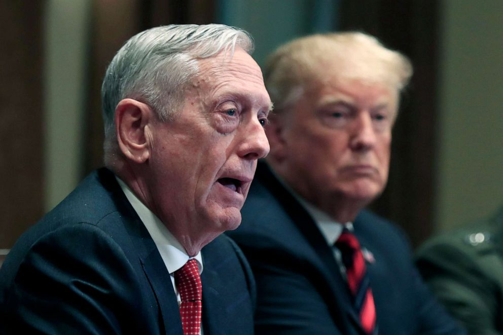"Ex-Pentagon chief Jim Mattis says bitter politics threaten US"""