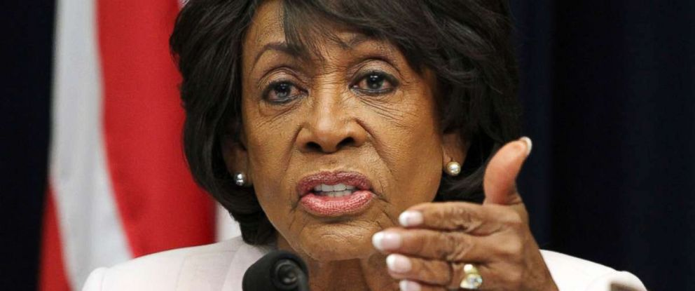 PHOTO: House Financial Services Committee ranking member Rep. Maxine Waters, D-Calif., asks a question of Housing and Urban Development Secretary Ben Carson, during a hearing on June 27, 2018, on Capitol Hill in Washington.