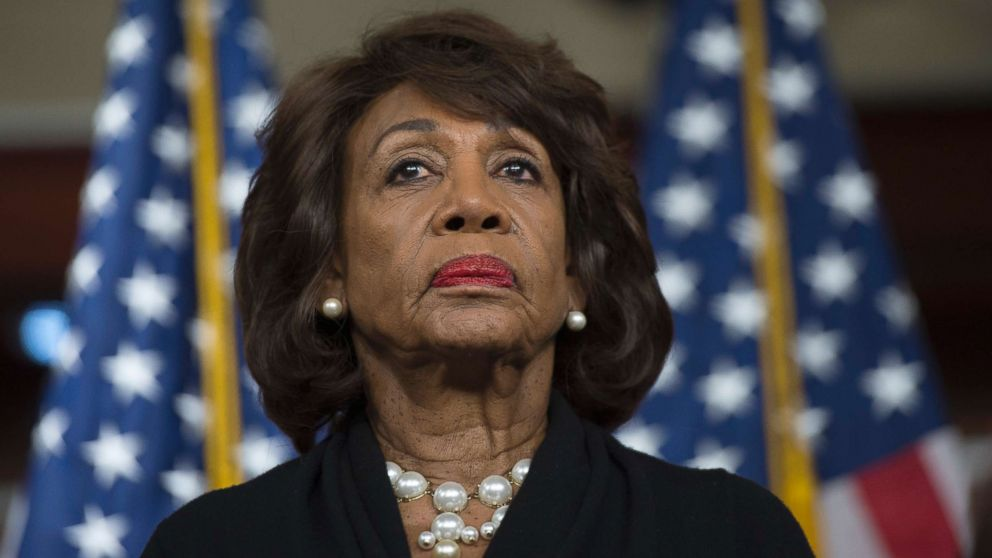 Representative Maxine Waters looks on before speaking to reports regarding the Russia investigation on Capitol Hill in Washington, Jan. 9, 2018.