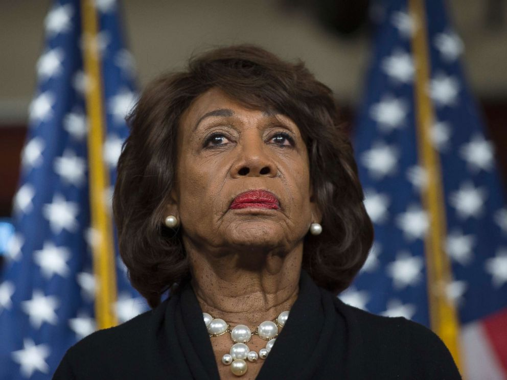 PHOTO: Representative Maxine Waters looks on before speaking to reports regarding the Russia investigation on Capitol Hill in Washington, Jan. 9, 2018.