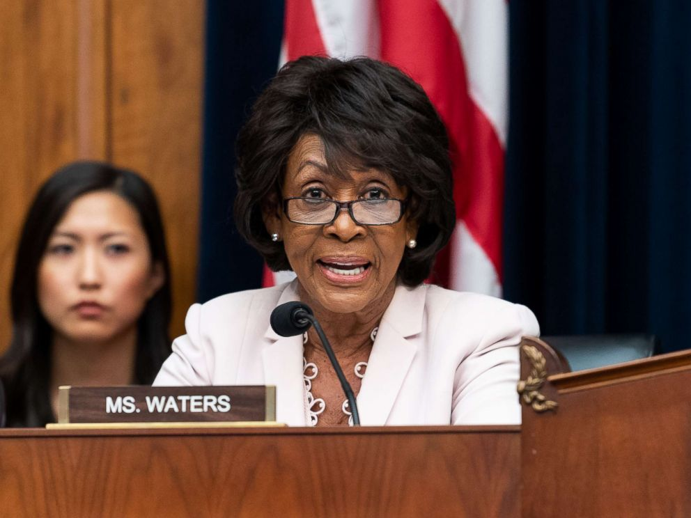 PHOTO: Rep. Maxine Waters, D-CA, at a hearing of the House Financial Services Committee in the Rayburn building on June 27, 2018, in Washington, D.C.
