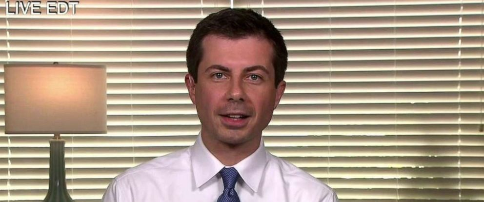 """PHOTO: Mayor Pete Buttigieg joined """"The View"""" via satellite to discuss his appearance at the second night of the Democratic presidential debates."""