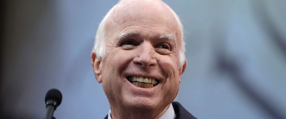 PHOTO: Arizona Sen. John McCain receives the Liberty Medal from the National Constitution Center in Philadelphia, Oct. 16, 2017.