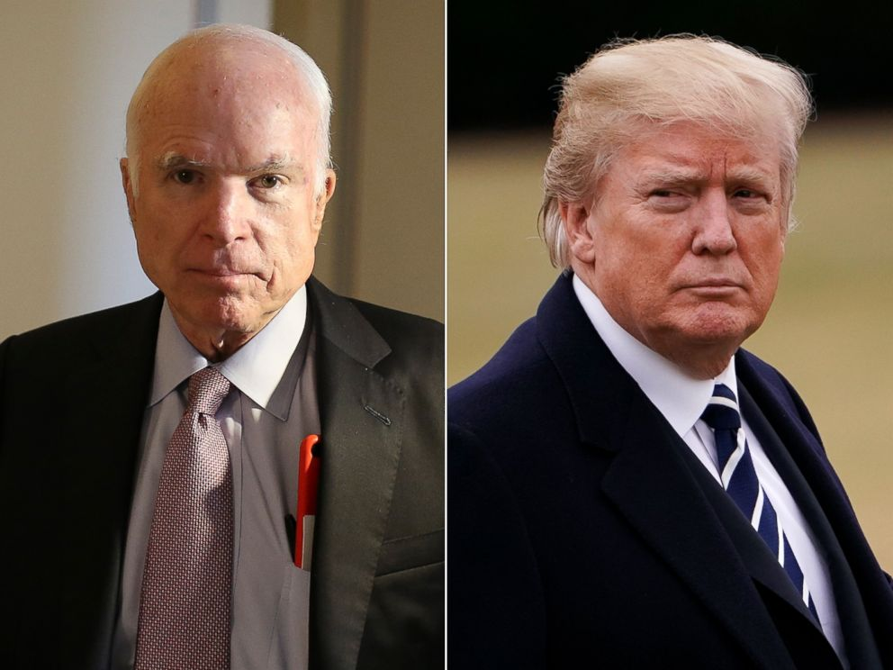 PHOTO: Sen. John McCain and President Donald Trump