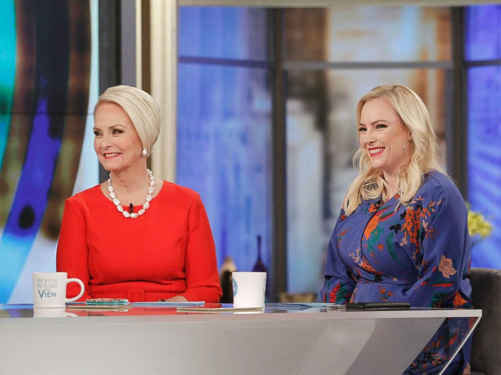 PHOTO: Cindy McCain and co-host Meghan McCain appear on The View, Feb. 28, 2018.