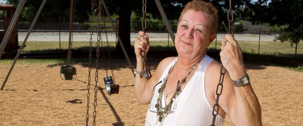 "PHOTO: Pro-life activist Norma McCorvey poses in a Smithville, TX park, July 2011. McCorvey, who was ""Jane Roe"" in the 1973 Supreme Court died Feb. 18, 2017."
