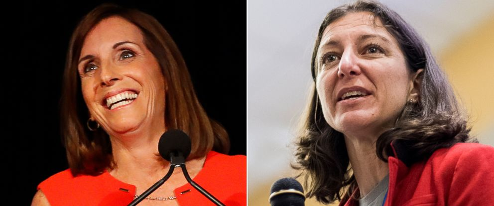 PHOTO: Pictured (L-R) are Rep. Martha McSally and Democratic candidate Elaine Luria.