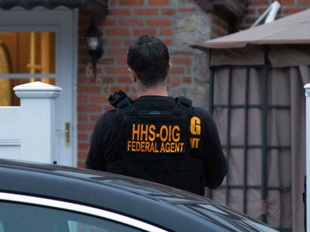 PHOTO: HHS Office of Inspector General agents take part in arrests on April 9, 2019, in Queens, N.Y., as they break up a billion-dollar Medicare scam that peddled unneeded orthopedic braces to hundreds of thousands of seniors nationwide,