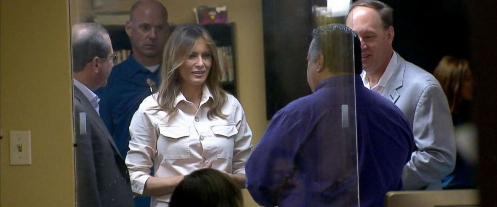 PHOTO: First lady Melania Trump visits an immigration detention facility in McAllen, Texas, June 21, 2018.