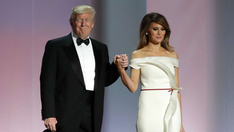 First Lady Melania Trump S Inaugural Gown Unveiled At Smithsonian Abc News