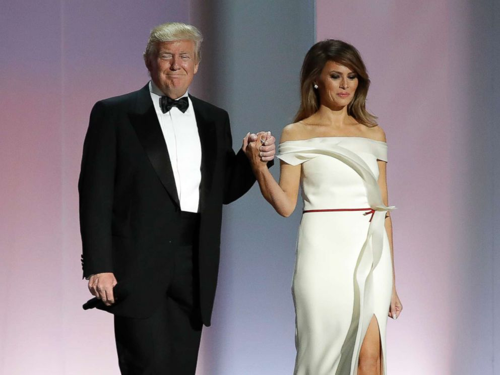 First lady Melania Trump\'s inaugural gown unveiled at Smithsonian ...