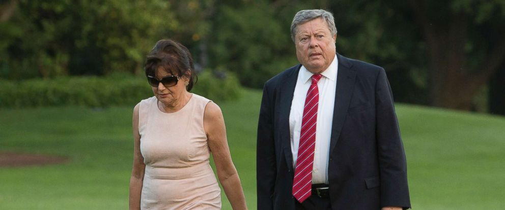 PHOTO: Viktor Knavs and Amalija Knavs, parents of first lady Melania Trump, arrive at the White House, June 11, 2017 in Washington, D.C.