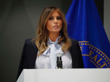 First lady Melania Trump speaks out against cyberbullying