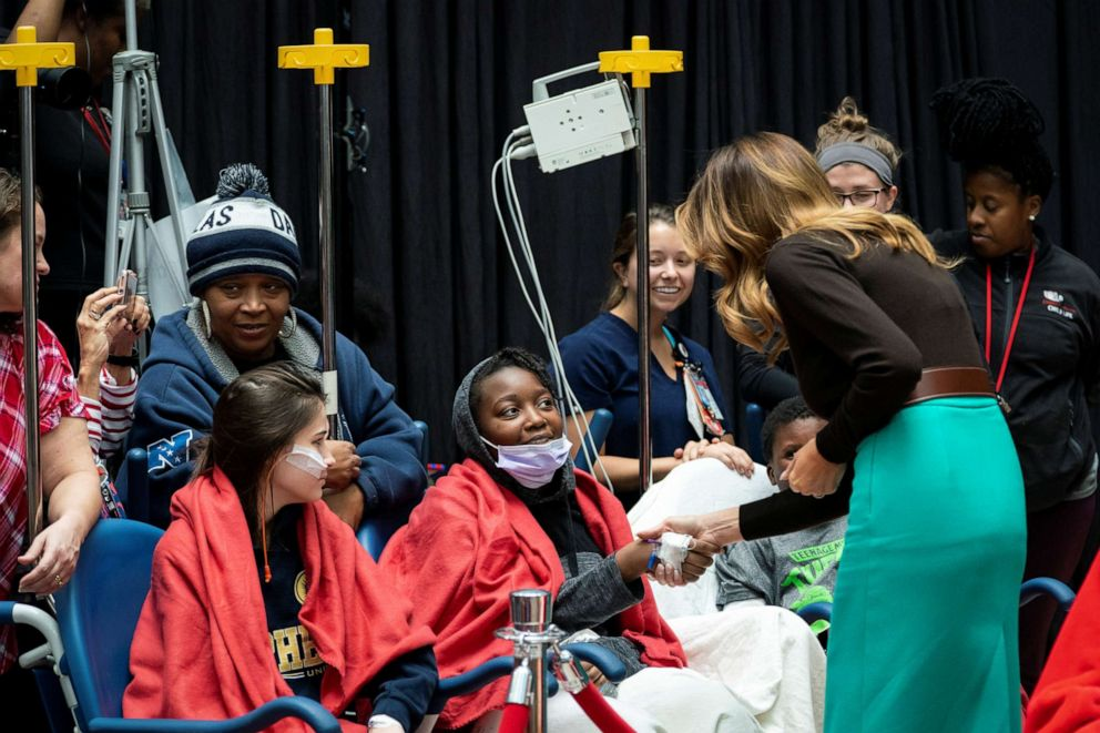 First lady Melania Trump makes annual holiday visit to children's hospital to read to patients - ABC News